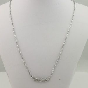 2/$10 Love silver necklace